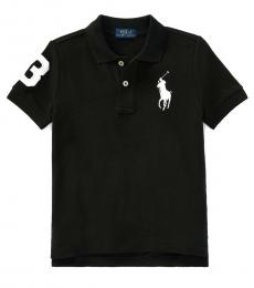 Ralph Lauren Little Boys Black Big Pony Polo