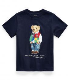 Ralph Lauren Little Boys Cruise Navy Polo Bear T-shirt