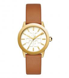 Tory Burch Luggage Gold Ivory Gigi Watch