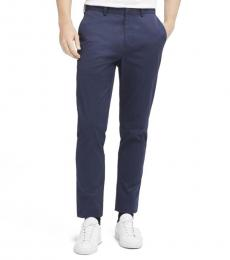 Navy SaT-Shirtn Flat Front Pants