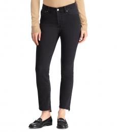 Ralph Lauren Charcoal Wash Straight Ankle Jeans