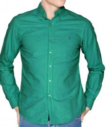 Dark Green Classic Fit Sport Shirt