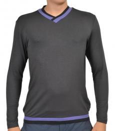 Armani Collezioni Grey V-Neck Sweater