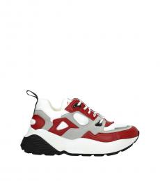 Red Grey Sporty Sneakers