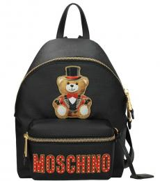 Moschino Black Teddy Large Backpack