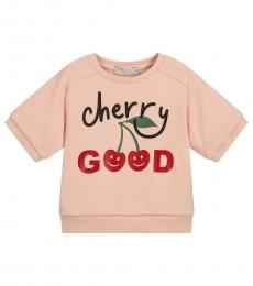 Stella McCartney Girls Pink Cherry Good Sweatshirt