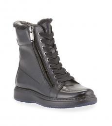 Karl Lagerfeld Black Dual Zip Boots