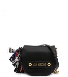 Love Moschino Black Scarf Mini Crossbody