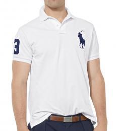 White Big Pony Custom Fit Polo