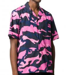 Purple Camouflage Print Shirt