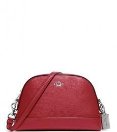 Coach Cardinal Red Dome Medium Crossbody