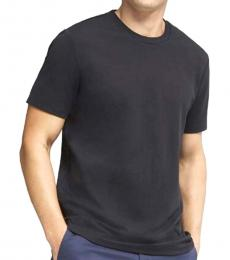 Black Pima Jersey Crew Neck T-Shirt