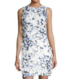 Karl Lagerfeld Multi color Applique Printed Lace Dress