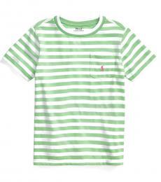 Ralph Lauren Little Boys New Lime Striped T-Shirt