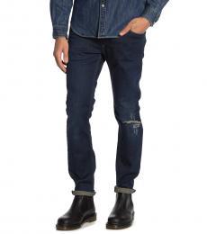 Diesel Dark Blue Thavar Slim Skinny Jeans