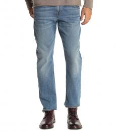 7 For All Mankind Blue The Straight Jeans