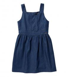 Girls Dark Chambray Origami Dress