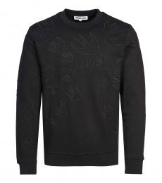 McQ Alexander McQueen Black allover logo sweatshirt