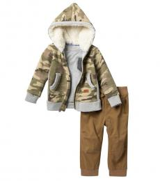 7 For All Mankind 3 Piece Hoodie/T-Shirt/Pants Set (Baby Boys)