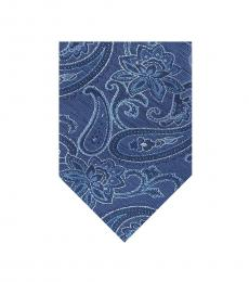 Michael Kors Blue Stroke Paisley Tie