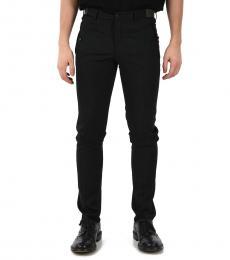 Black Wool Belt Loops Pants