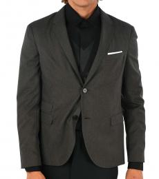 Neil Barrett Dark Grey Single Breasted Blazer