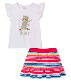 Juicy Couture 2 Piece Top/Scooter Skirt Set (Little Girls)