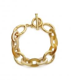 Ralph Lauren Gold Shaded Links Horn Link Bracelet