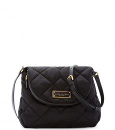 Black Quilted Large Crossbody