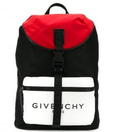 Givenchy Black Colorblock Large Backpack