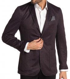 Black Two Button Notch Lapel Jacket