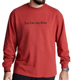 True Religion Red Rise Long Sleeve Shirt