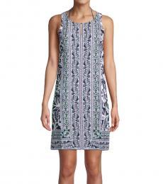 Tommy Bahama Navy Blue Tropical Vibes Mini Dress