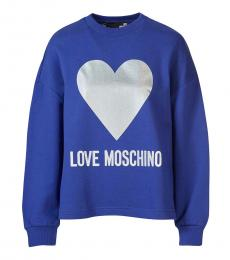 Love Moschino Royal Blue Classic Logo Pullover