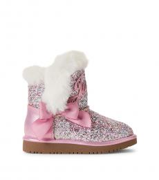Juicy Couture Baby Girls Pink Windsor Glitter Boots
