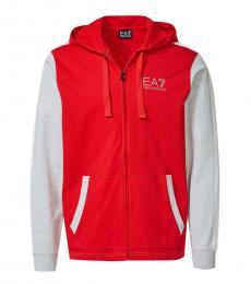 Red Colorblock Logo jacket