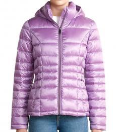 Calvin Klein Purple Hooded Packable Jacket
