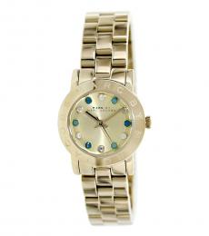 Marc Jacobs Gold Dexter Crystal Watch
