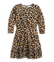 J.Crew Little Girls Leopard Print Knit Dress