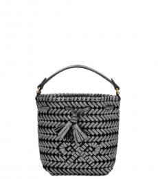 Anya Hindmarch Grey Neeson Drawstring Mini Bucket Bag