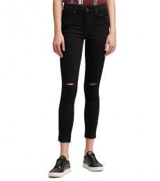DKNY Black High-Rise Skinny Ankle Jean