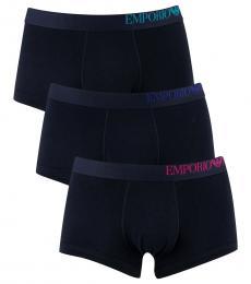 Emporio Armani Navy Blue 3 Pack Trunks
