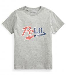Ralph Lauren Little Boys Light Grey Big Pony T-Shirt