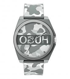 Hugo Boss Grey Camouflage-Print Watch