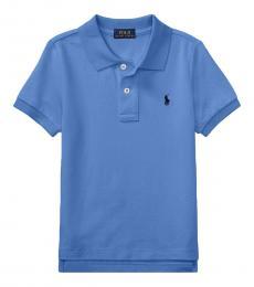 Ralph Lauren Little Boys Blue Mesh Polo
