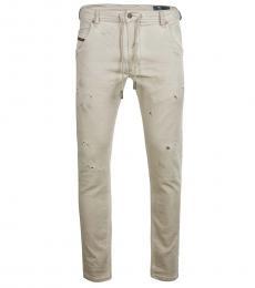 Diesel Beige Slim Fit Jeans