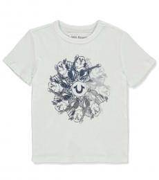 Little Boys White Graphic Buddha T-Shirt