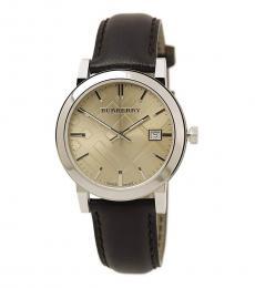 Burberry Dark Brown Classic Logo Watch