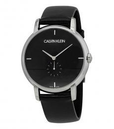 Calvin Klein Black Established Black Dial Watch