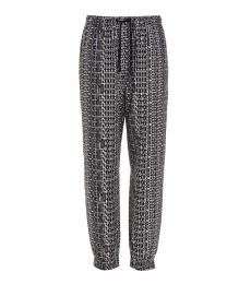 Black All-Over Print Joggers